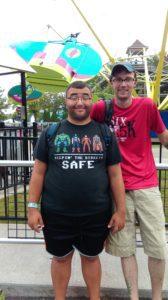 Nick at amusement park